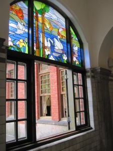 Beitou Hot Spring Museum - Stained Glass Panels by the Big Bath