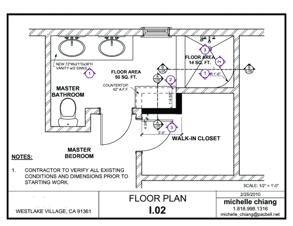 Westlake Village Master Bathroom